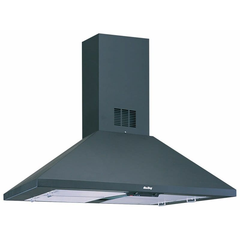 Air King Ali36b Black 500 Cfm 36 Inch Wide 3 Speed Island Range Hood From The Barcelona Collection Island Range Hood Range Hoods Range Hood