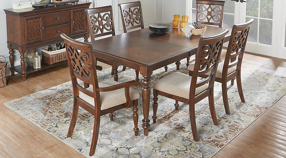 Picture Of Balboa Heights Cherry 7 Pc Rectangle Dining Room From Mesmerizing Dark Cherry Dining Room Set Design Decoration