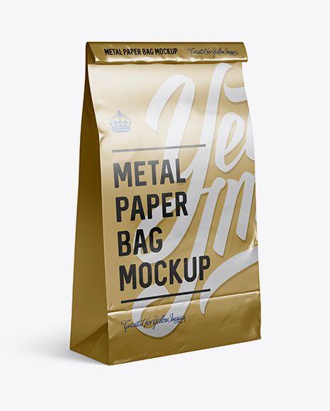 Download Metallic Paper Food Snack Bag Mockup Halfside View In Bag Sack Mockups On Yellow Images Object Mockups Mockup Free Psd Bag Mockup Stationery Mockup