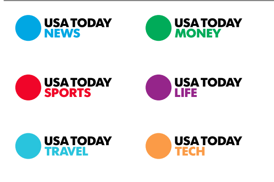 Usa Today S Branding Is Bold And Simple Love Their Bright Saturated Colors Their Re Drawn Version Of Futura Called Futura Today Is Awesome