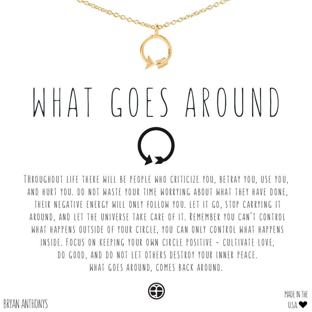 What Goes Around Comes Around Tattoo Symbol