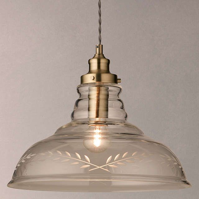 John Lewis & Partners Hadley Etched Glass Pendant Ceiling