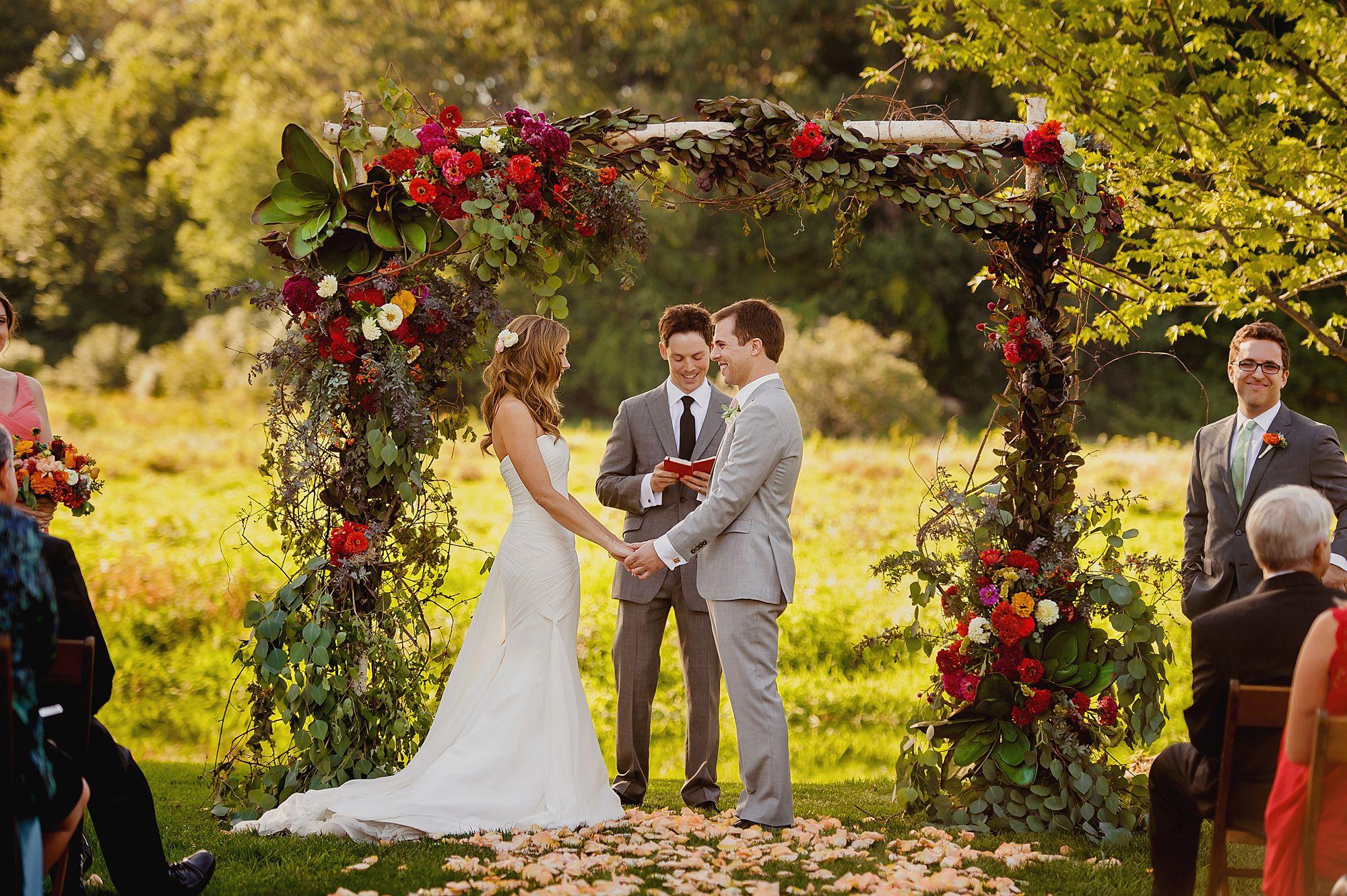 A Rustic Farm Wedding And Tent Reception At Misty Farm In Ann