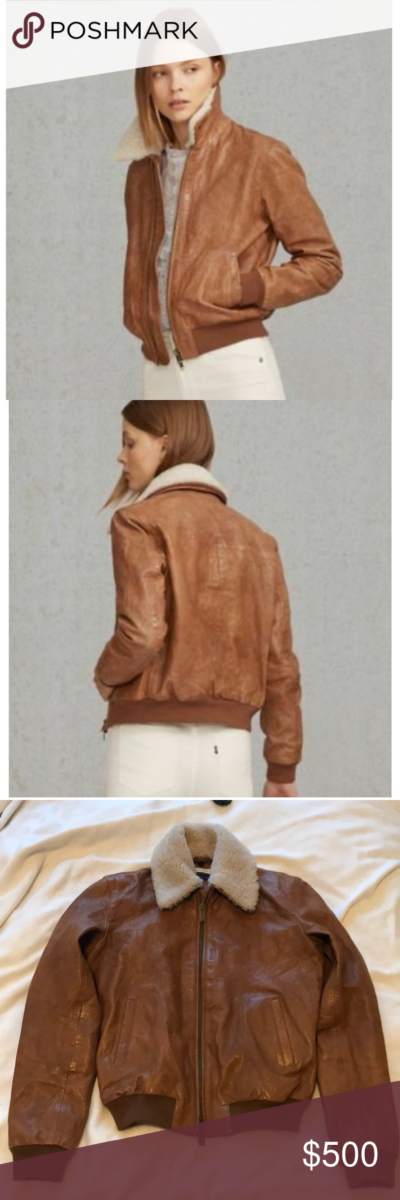 Levi's Women Made and Crafted 264700000 Bomber Leather