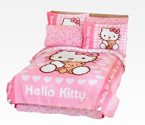 Hello Kitty Bedding Sets: Teddy. For Claire's room.