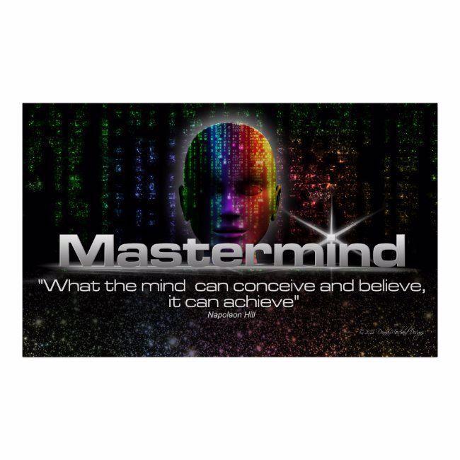 Mastermind Poster #mastermind #achievement #napoleon #hill #quote #Poster