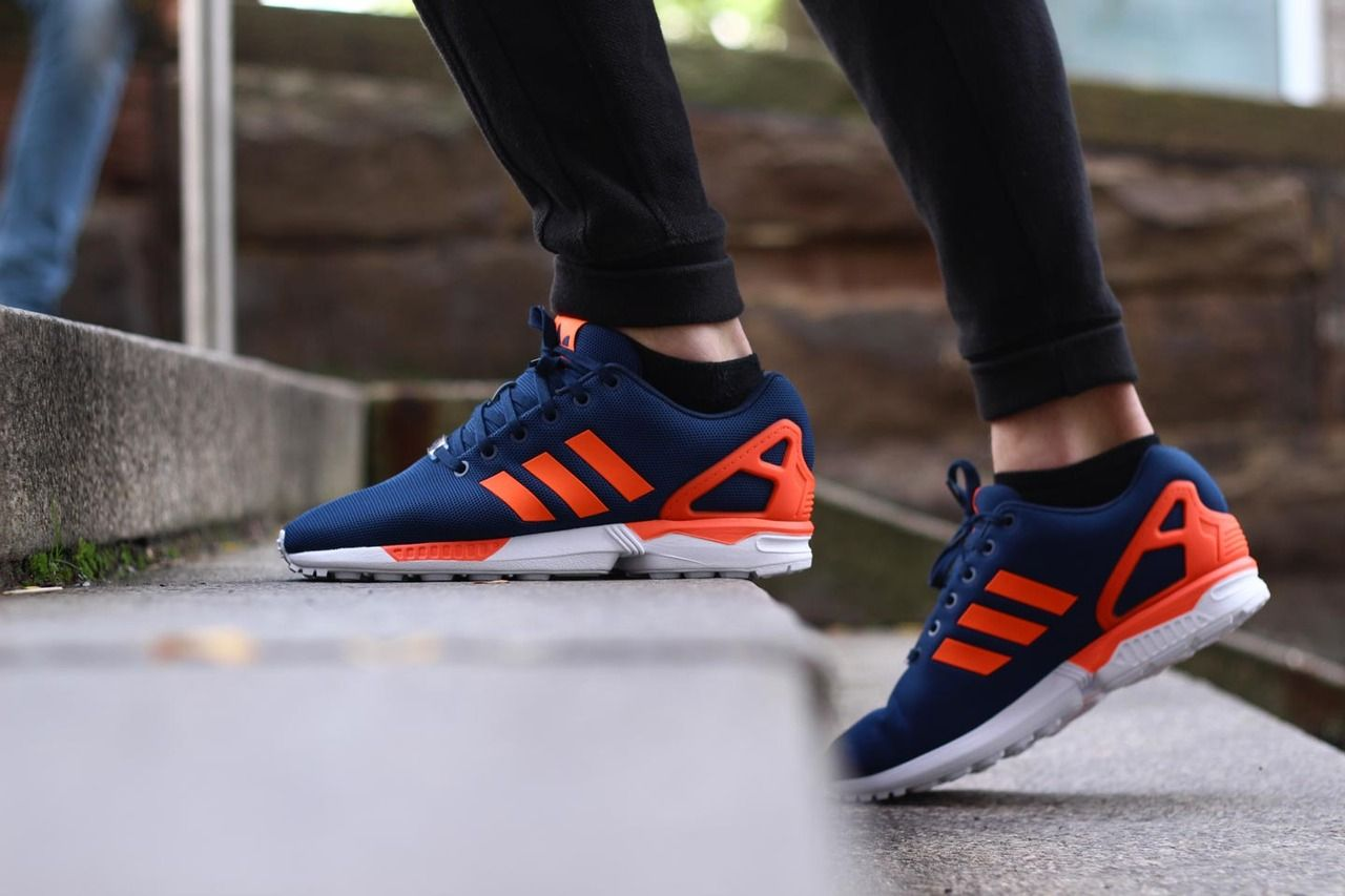 superior quality 5c93b d9935 Adidas ZX Flux - Dark Blue/Solar Red (by Sapato store ...