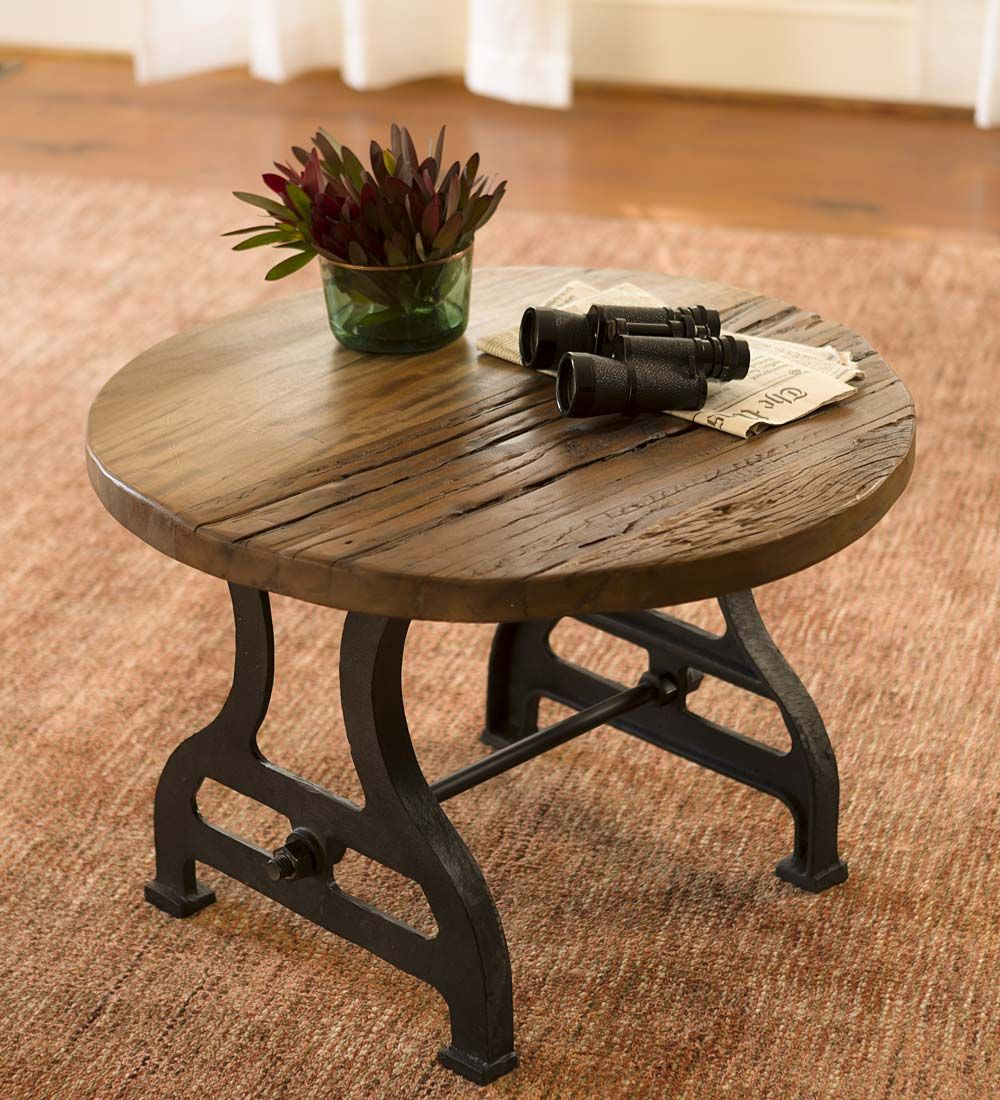 Our Birmingham Round End Table In Reclaimed Wood And Metal Will Make A  Gorgeous Addition To