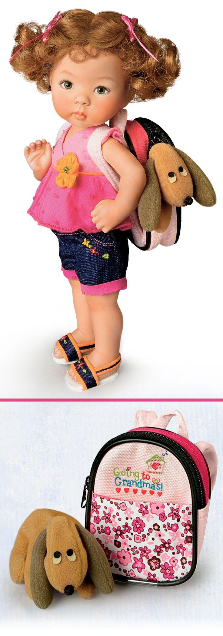 Poseable porcelain little girl doll by Master Doll Artist Dianna Effner.