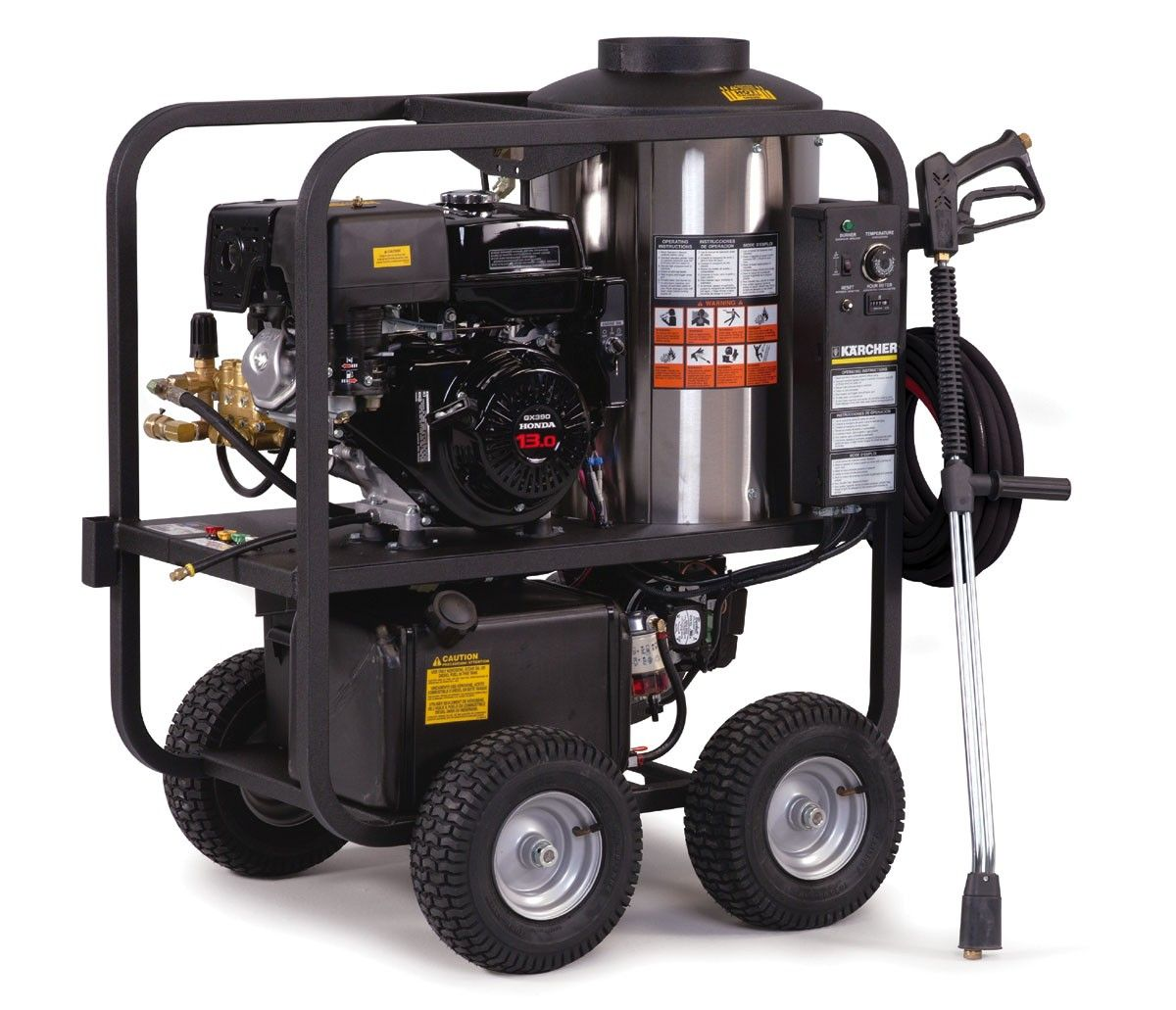 Karcher Liberty HDS, Gasoline Powered Diesel Heated P/Pe Cage - Hot Water Pressure  Washers - Pressure Washers