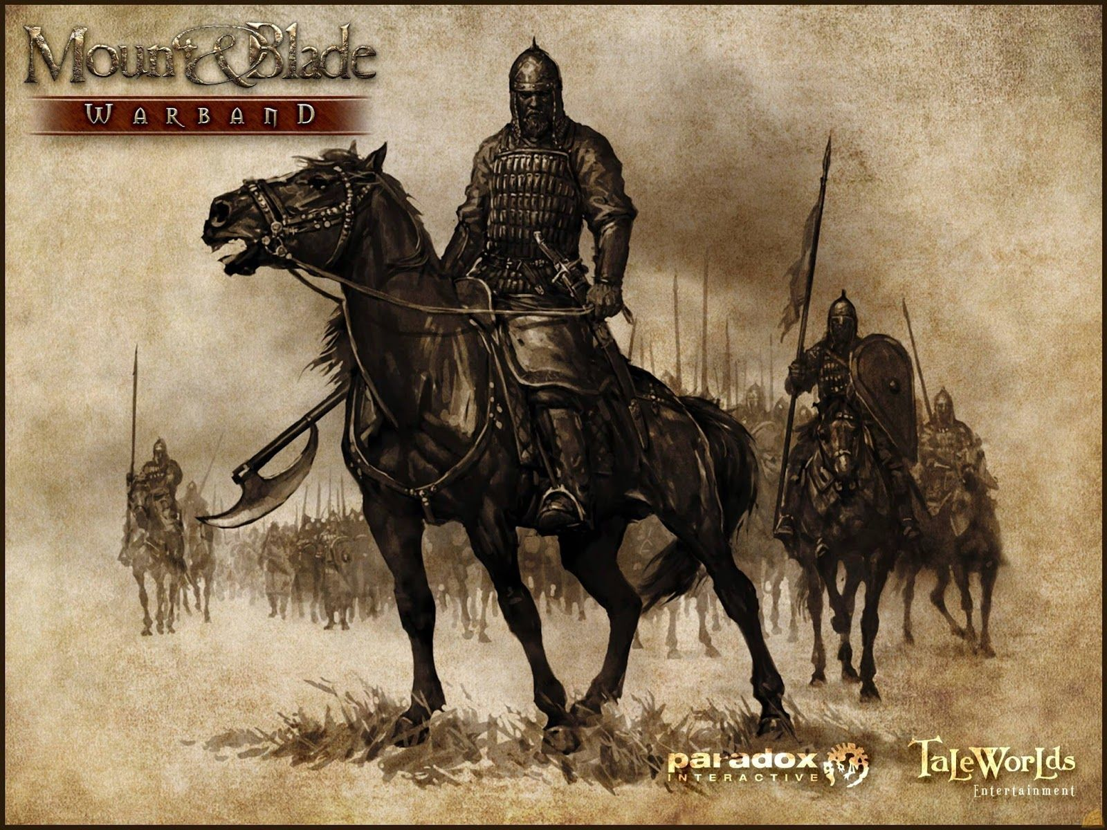 Mount And Blade Warband Cover Fantasy Art Warrior Horse