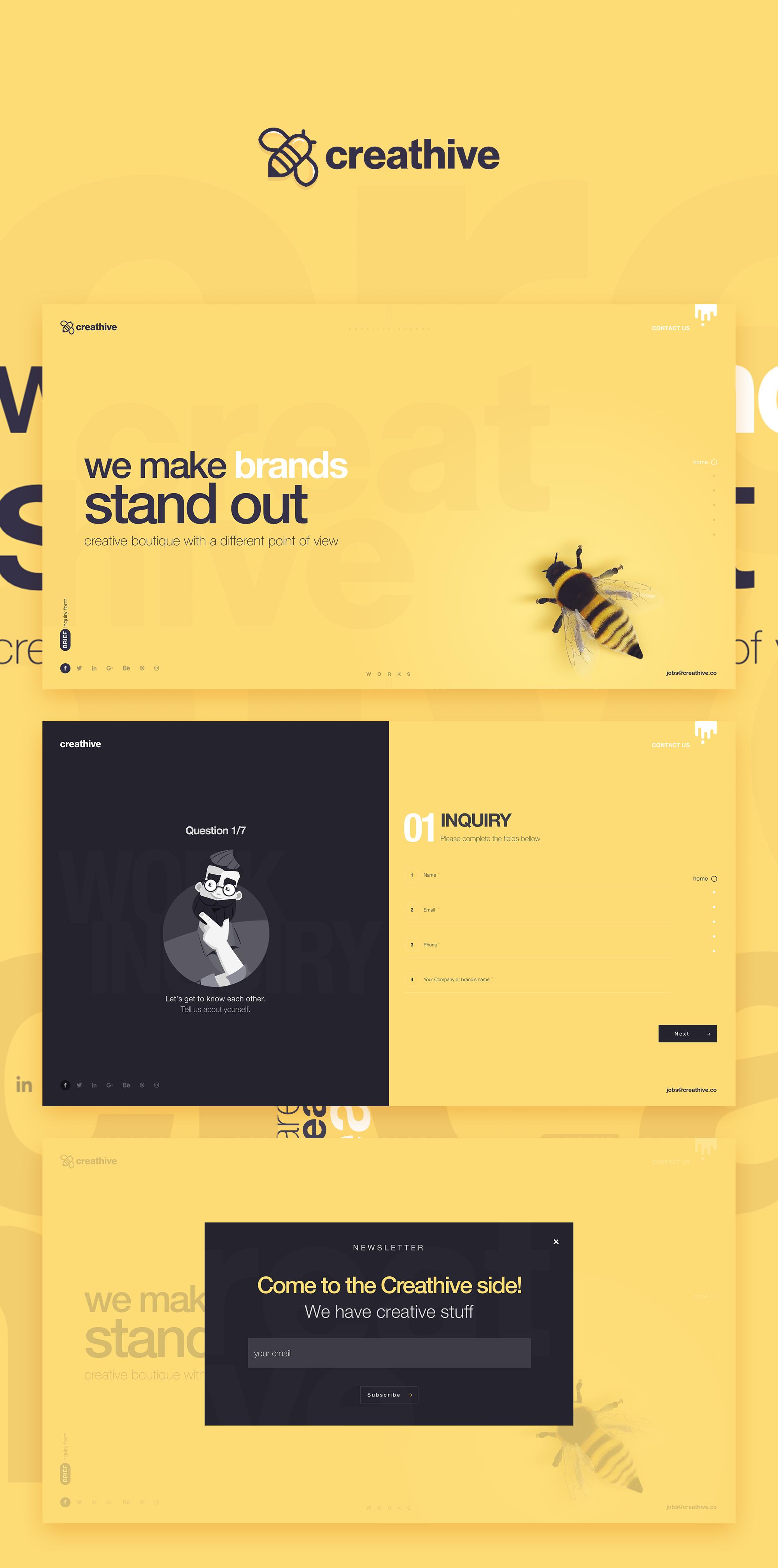 Creathive On Pige Institutionnel Web Design Design Website Et Agence Webdesign