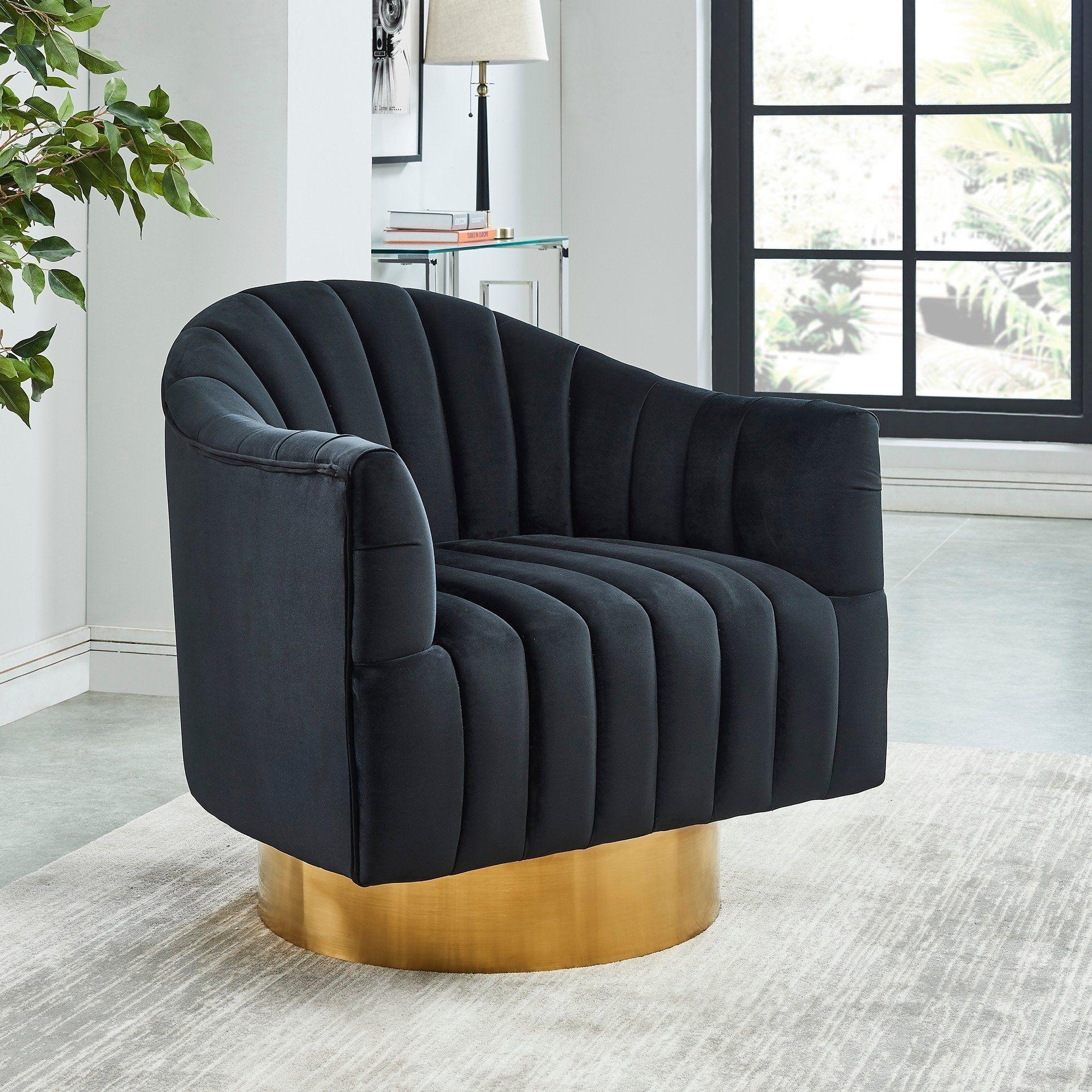 CortinaAccent Chair (Green/Gold)(Velvet) Velvet accent