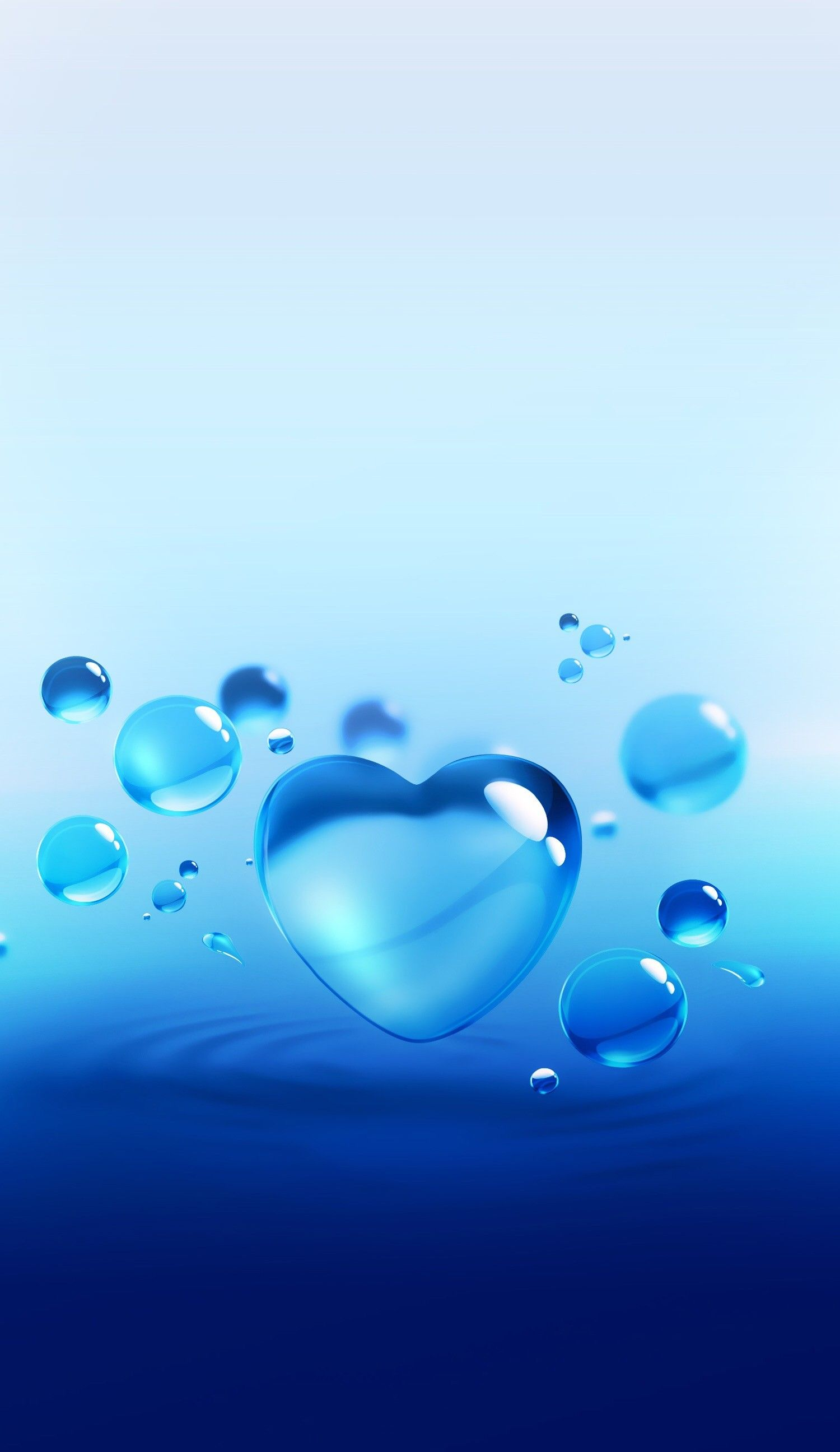 Phone Wallpapers Water Art Beats Rainbows Heart Funds Beads