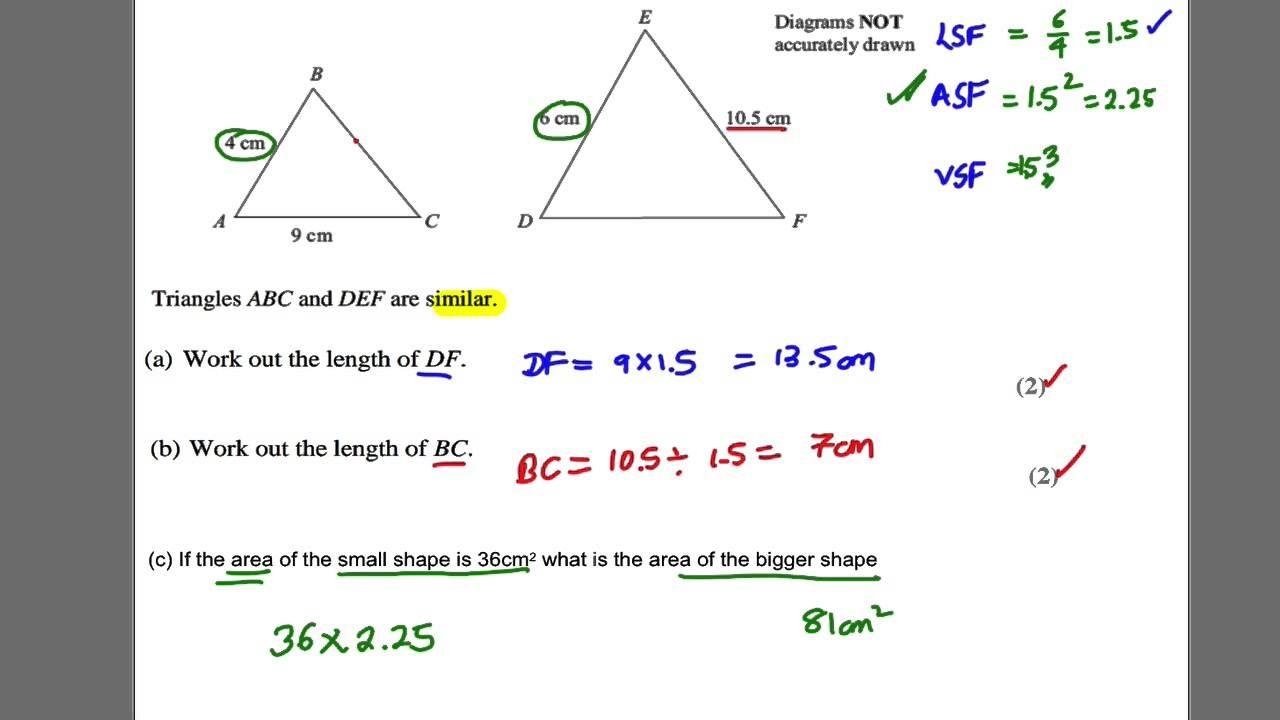 Gcse Revision Video 30 Similar Shapes Gcse Revision Gcse Math Triangle Abc [ 720 x 1280 Pixel ]