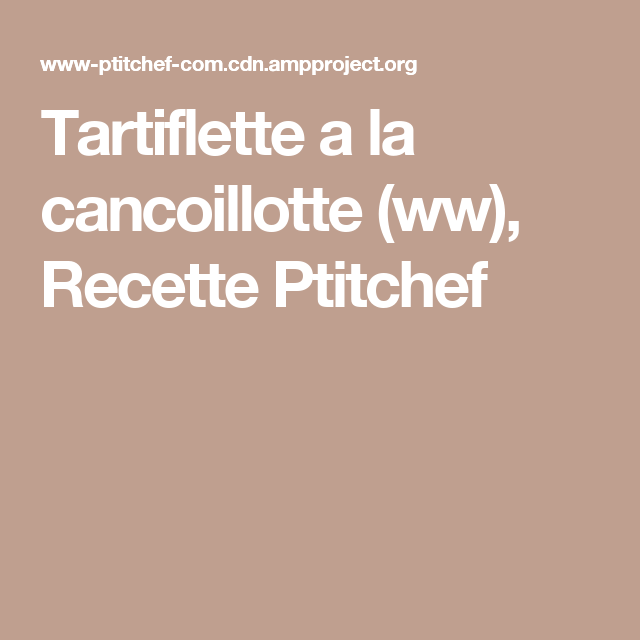 Ptitchef recette ww