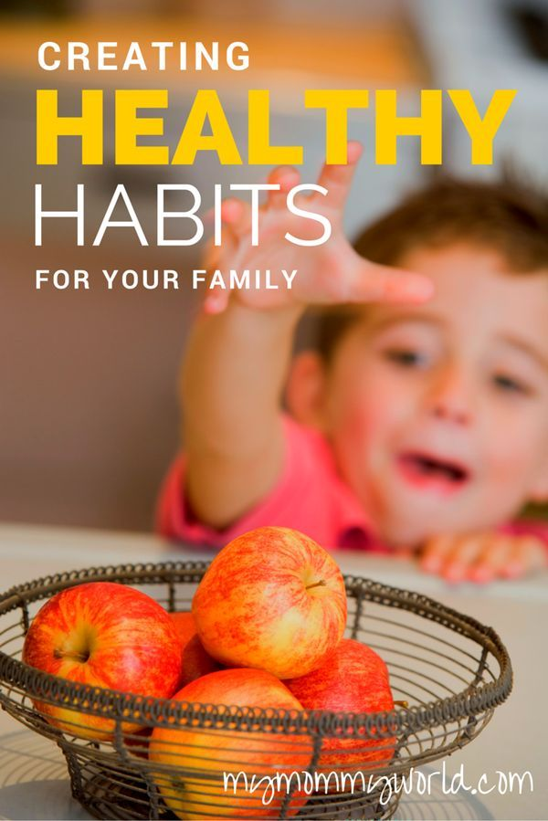 Living a healthy lifestyle is important and needs to start early in life. Here are 6 healthy habits to help you get started: http://mymommyworld.com/creating-healthy-habits-for-your-family/