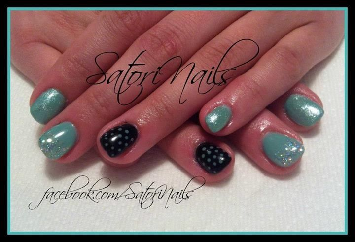 Akzentz Luxio Tiffany and Luxio Noir | Satori Nails | Pinterest