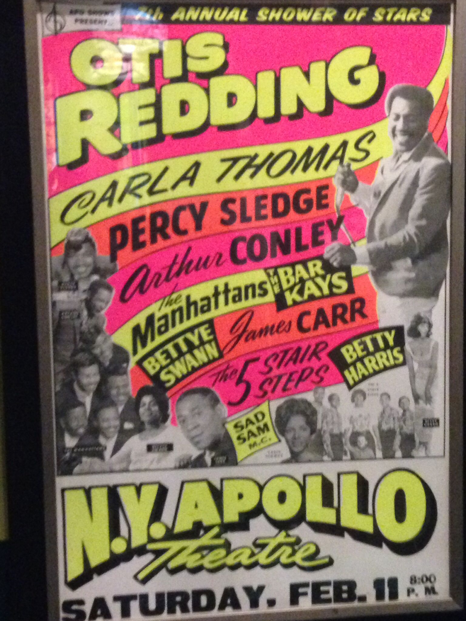 Otis Redding The Marvelettes 1967 Vintage Knoxville Poster Print Art A3 SIZE