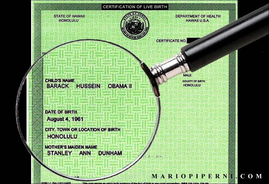 Barack Obama Birth Certificate | Barack Obama\'s birth certificate ...