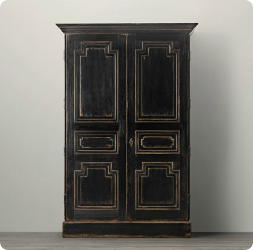 Distressed Black Armoire Thinking Of Redo Ing My