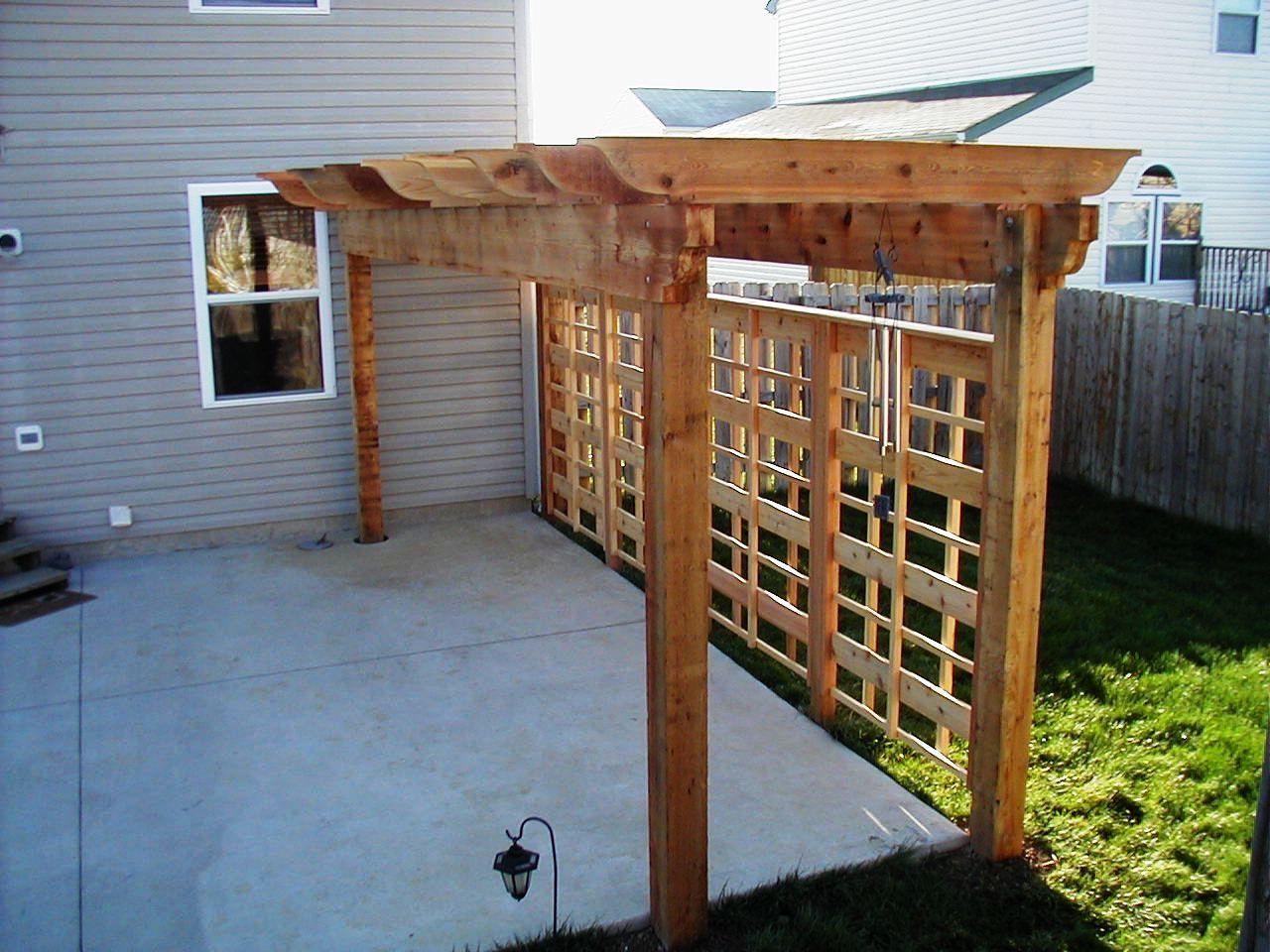 Decorative Pergola With Unique Privacy Fence Archadeck Outdoor