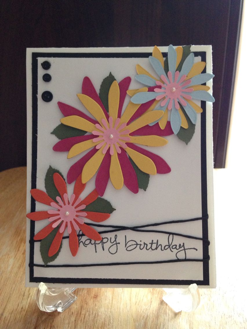 Birthday flowers my handmade greeting cards u other fun projects
