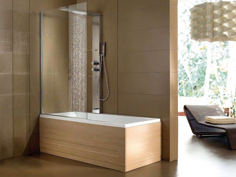 Vasca Da Bagno Piccola Con Doccia.Whirlpool Bathtub With Shower Era Plus Box Hafro