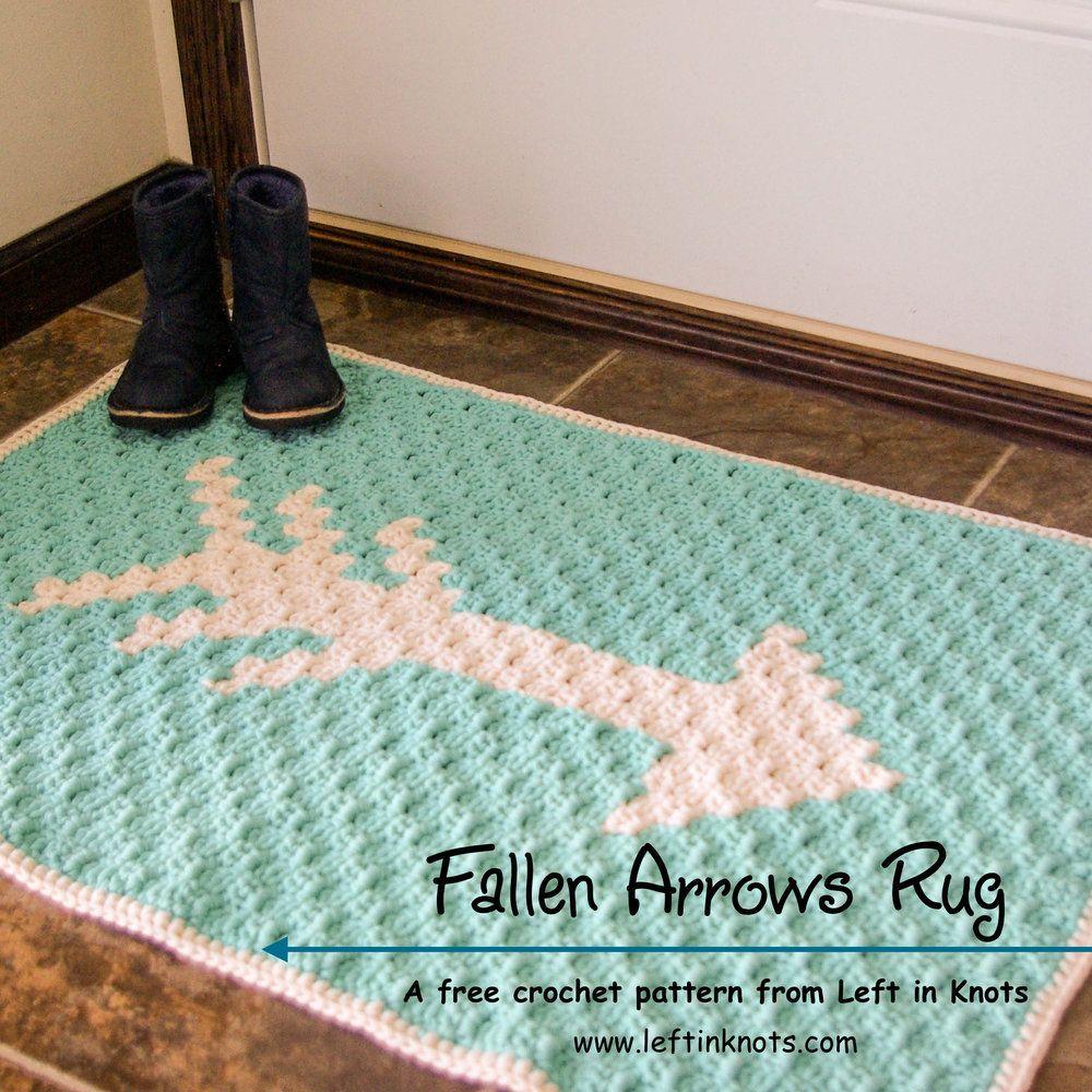Fallen Arrows Rug Free C2c Crochet Pattern Left In Knots Crochet Rug Patterns Crochet Rug C2c Crochet