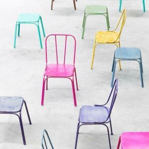 Downtown Industrial Metal Chairs (16 colours) by dresslinkdotcom