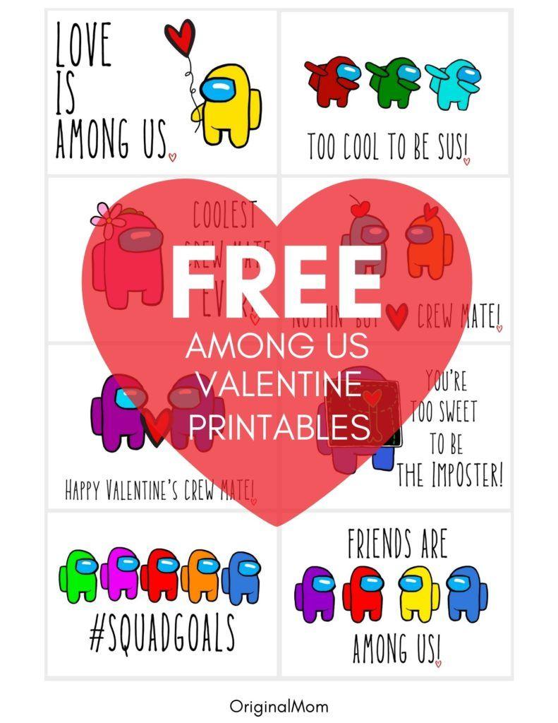 Among Us Valentine Free Printable Printable Valentines Cards Valentine Gifts For Kids Free Printable Valentines Cards