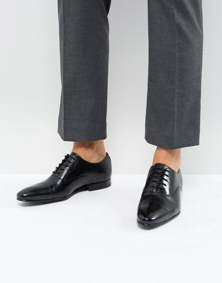 1e2e13de0dacb6 TED BAKER MURAIN LEATHER OXFORD SHOES IN BLACK - BLACK.  tedbaker  shoes