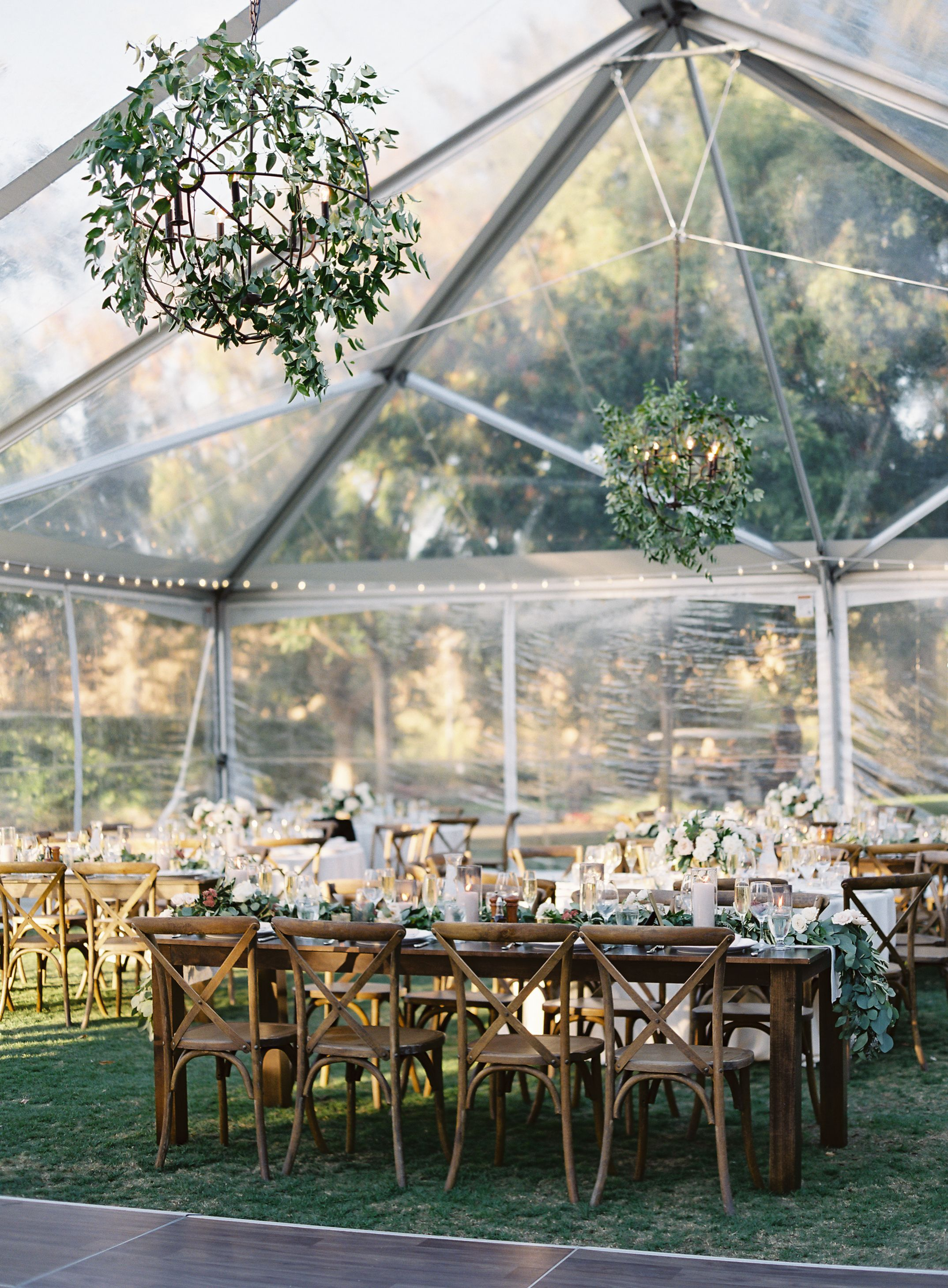 Aly And Nate Brought In A Clear Tent For Their Terrace Lawn
