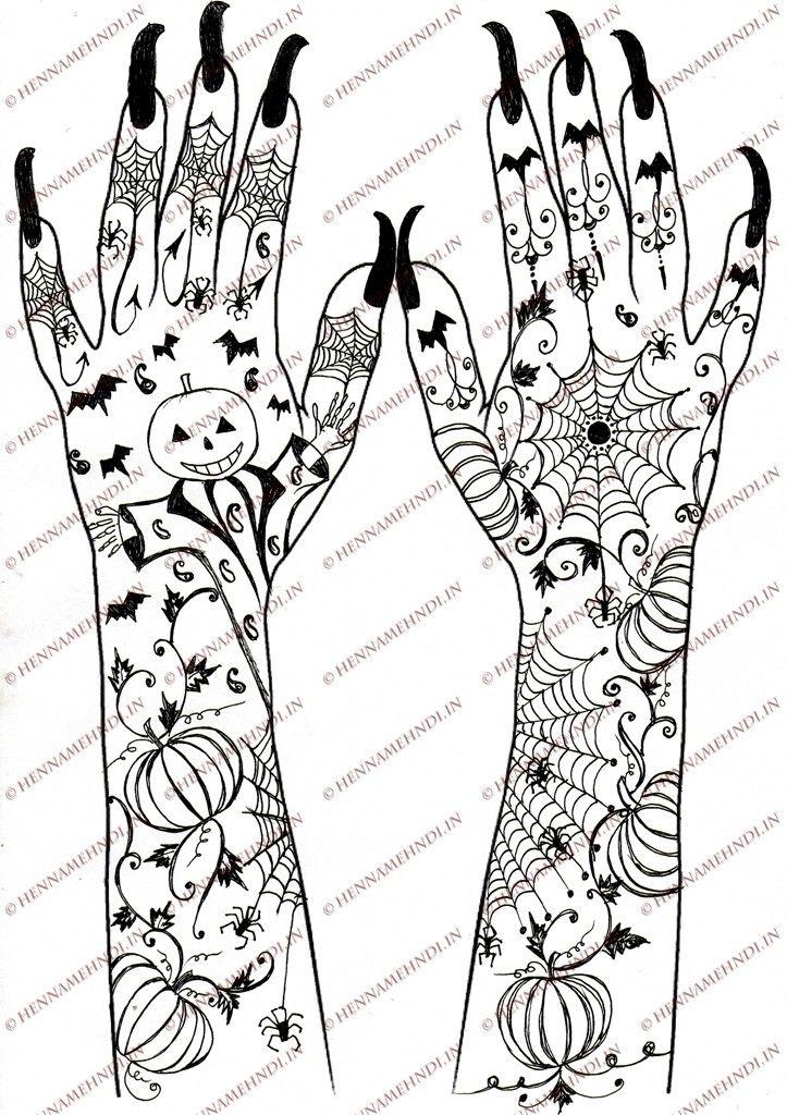 Halloween Designs Halloween Design Henna Designs Henna Designs For Kids