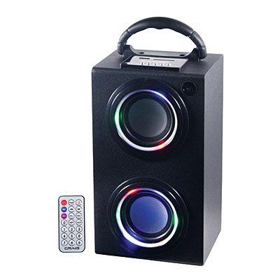 Craig Bluetooth Wireless Portable Mini Tower Speaker Box With Lights At Big Lots Tower Speakers Speaker Box Digital