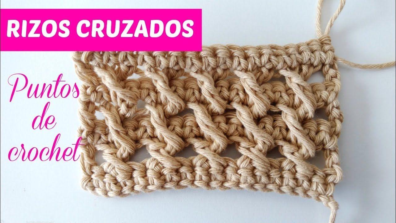 Puntos de crochet, rizos cruzados - YouTube | cat crochet applique ...