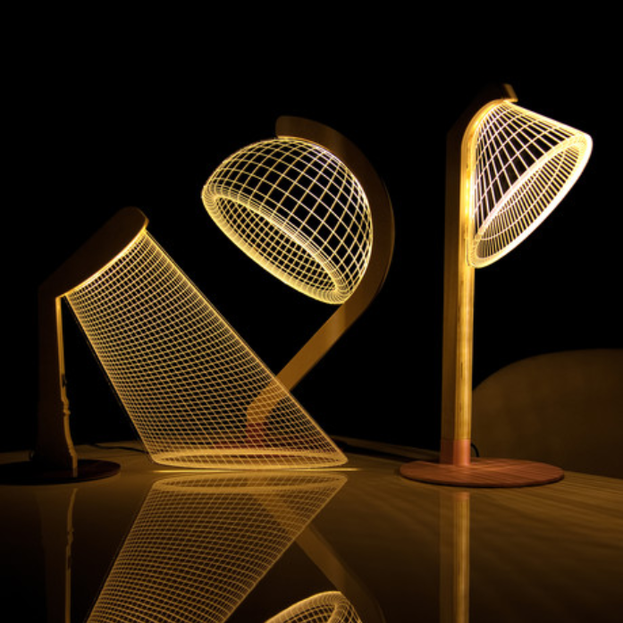 These 2d Lamps Designed To Look 3d Lamp Design Design What Is Design
