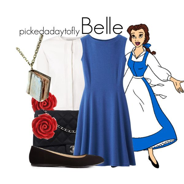 Belle by pickedadaytofly on Polyvore featuring Uniqlo, Giambattista Valli, Charlotte Russe, Chanel, Bling Jewelry, Disney, disney, belle and BeautyandtheBeast