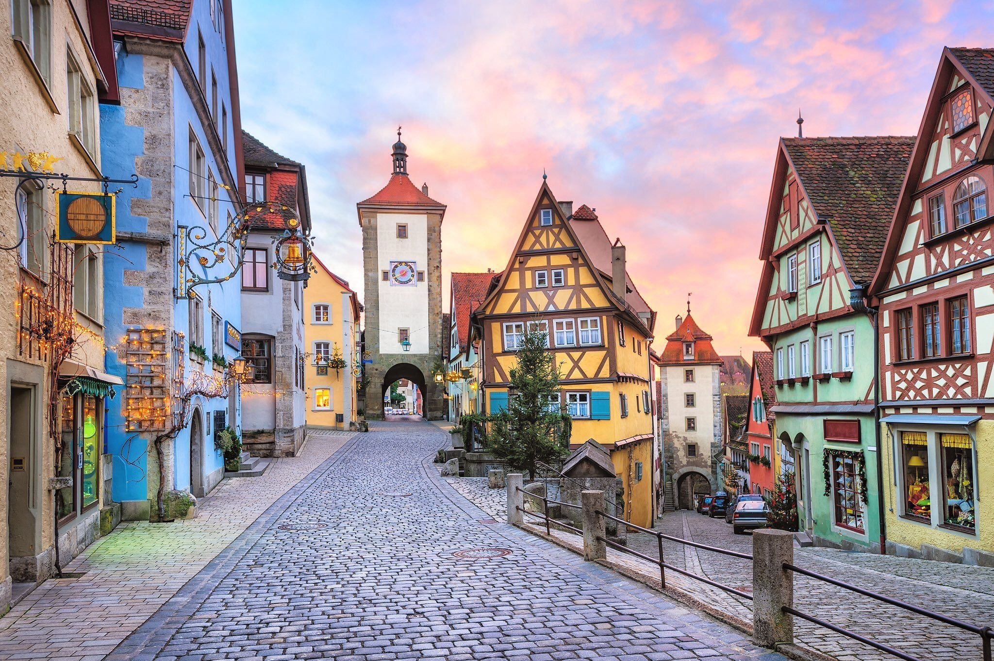"""Colorful half-timbered houses in the preserved medieval town of Rothenburg  ob der Tauber, #Germany #Bavaria""""   Road trip fun, Cities in germany,  Germany travel"""