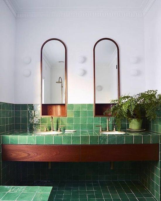 Altbau Green Tile Bathroom Bathroom Tile Designs Bathroom Interior Design