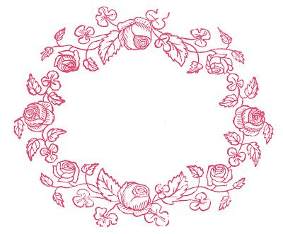 Royalty Free Images Rose Wreaths Embroidery Pattern Printables