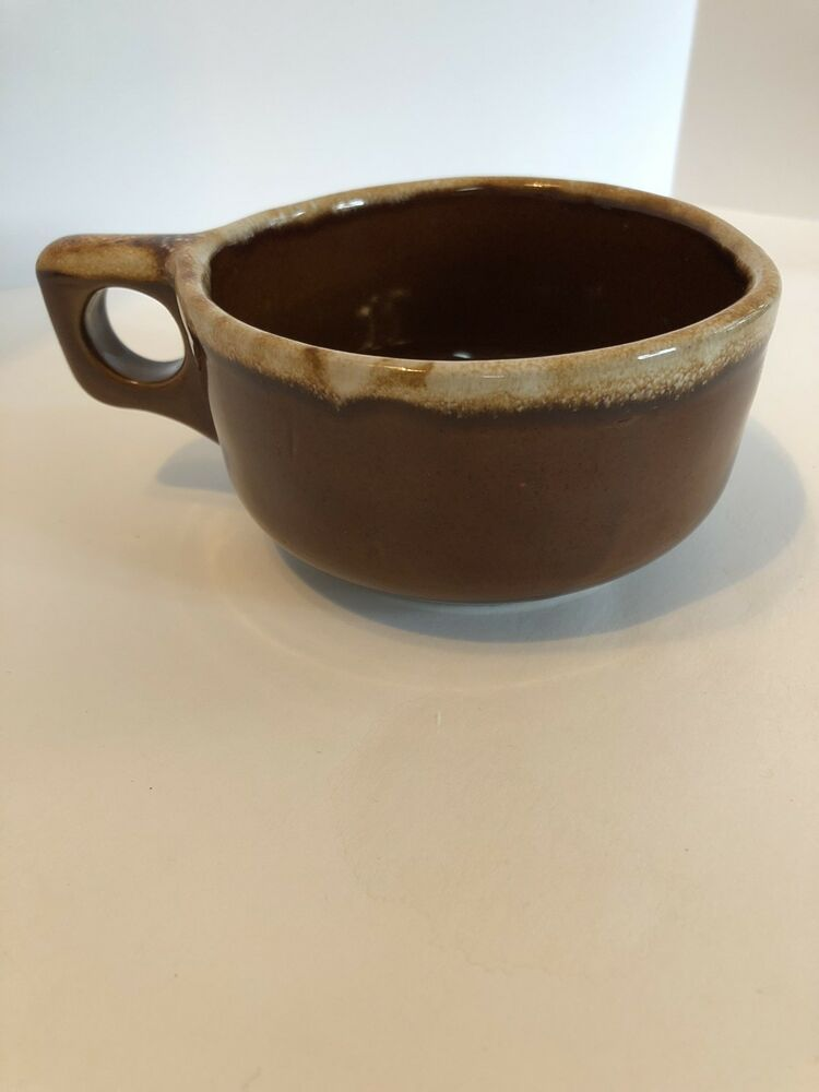 Hull Small Brownstone Bowls with Handles