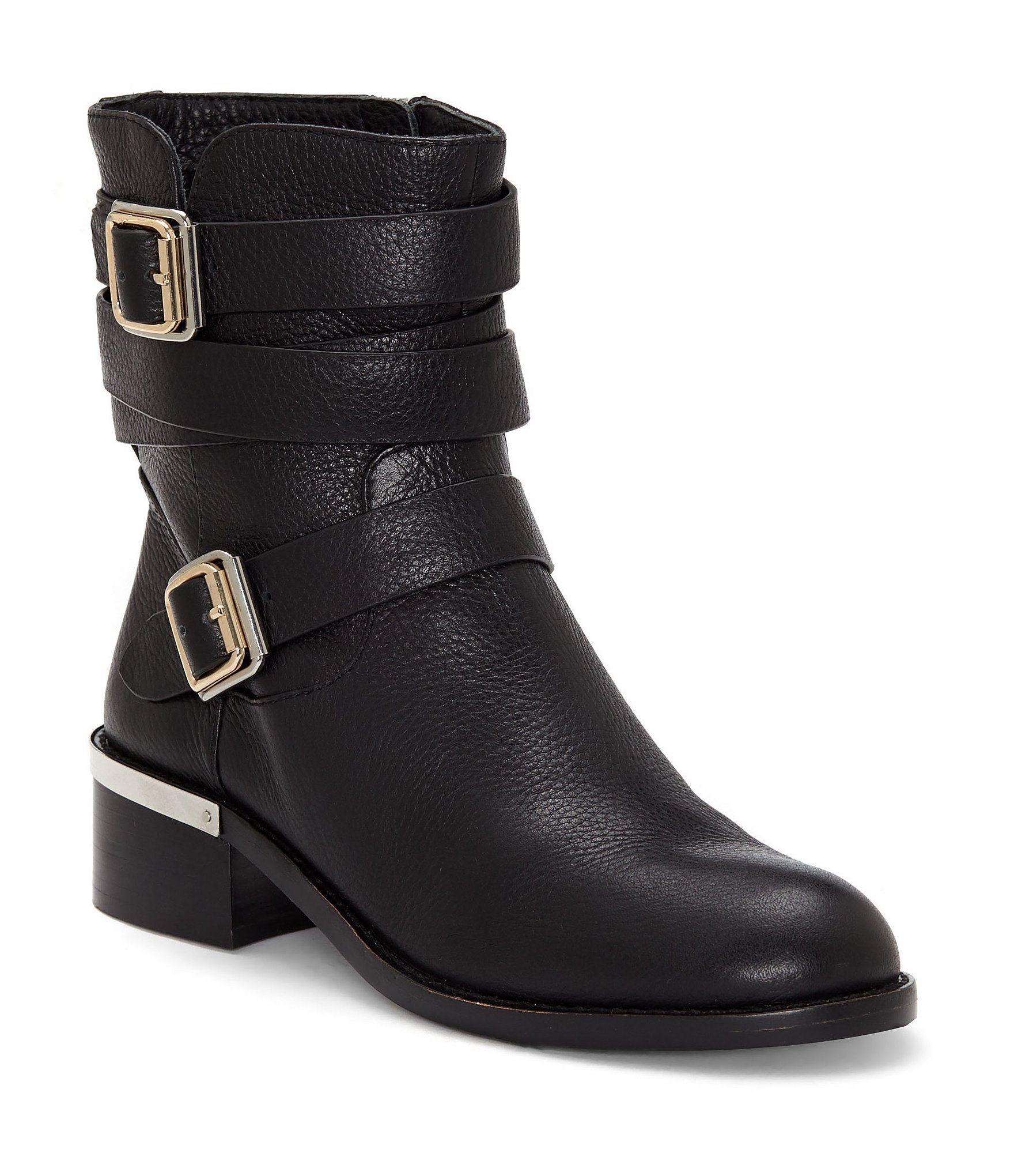f8ef3b7eb49 Vince Camuto Webey Leather Block Heel Boots #Dillards   Fashion ...