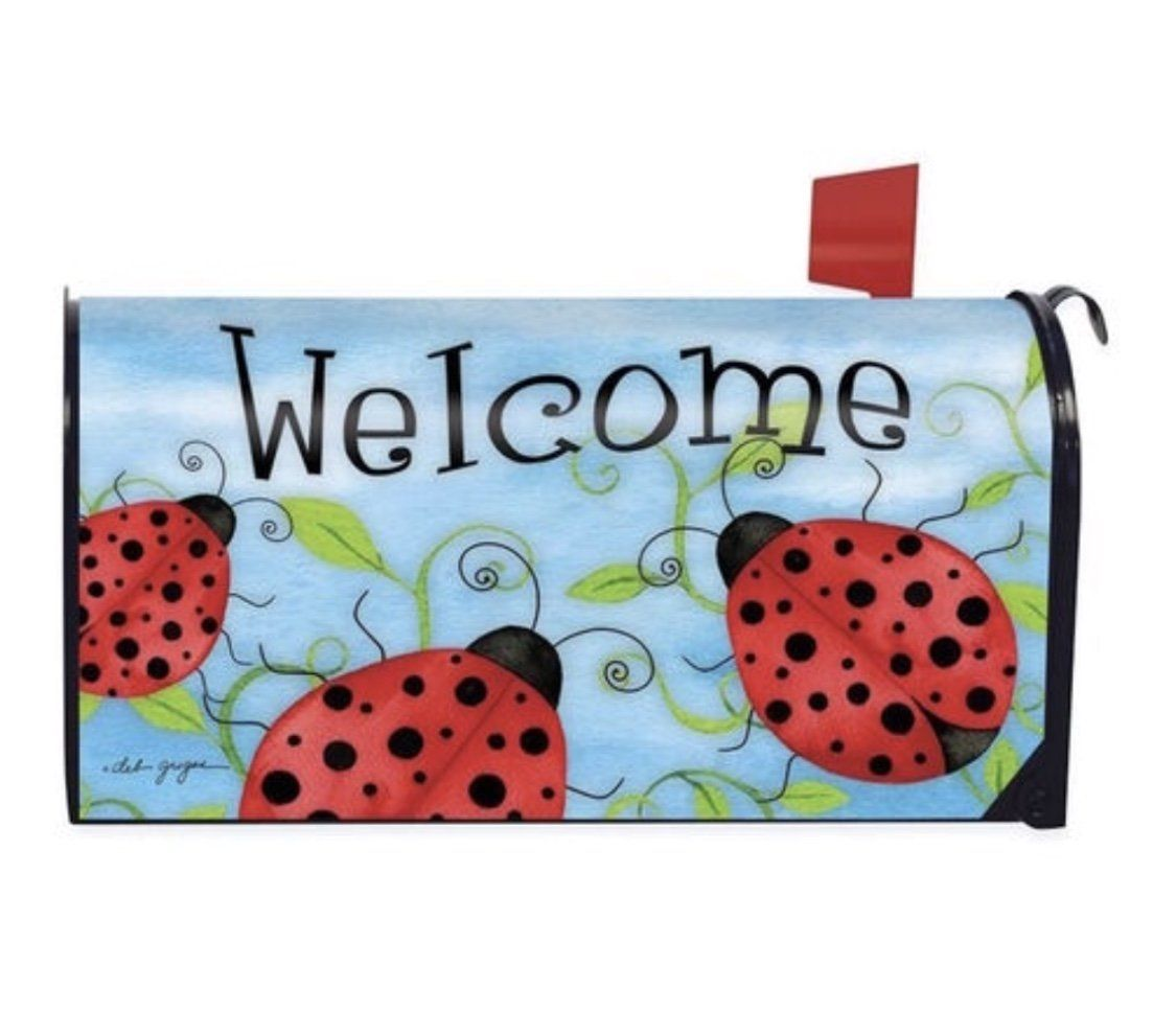 Outdoor Decor Ladybug Welcome Mailbox Cover Magnetic Mailbox