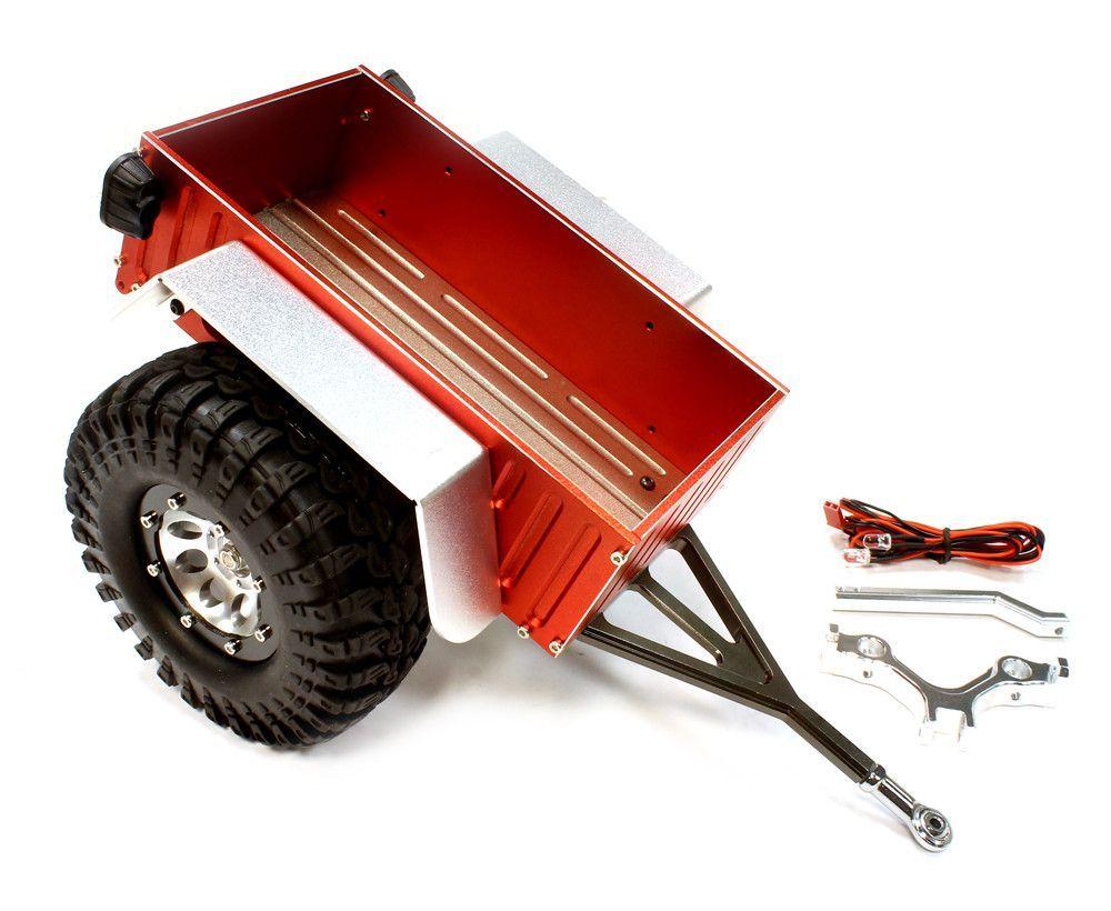 C25748red Realistic Complete 1 10 Size Utility Box Trailer For Scale Crawler Truck Box Trailer Utility Box Trucks
