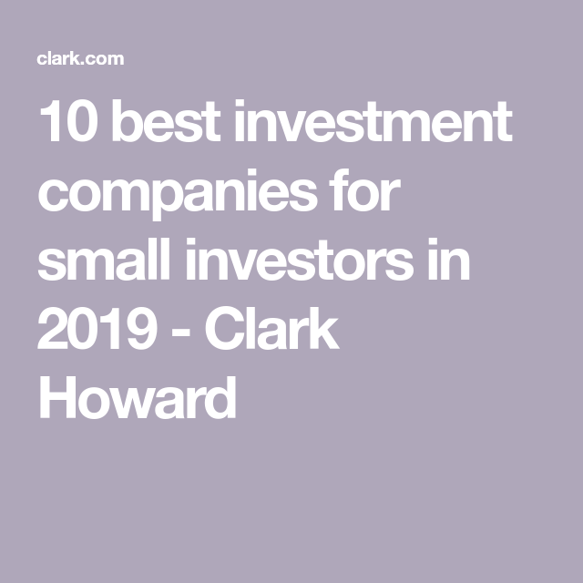 Best investment companies for small investors mlc investment fundamentals