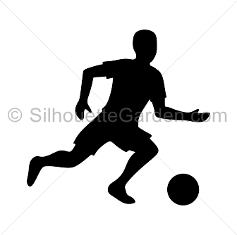 Soccer Player Silhouette Silhouette Soccer Players Soccer Silhouette