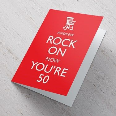 Personalised 50th Birthday Cards Gettingpersonal Iluvcards