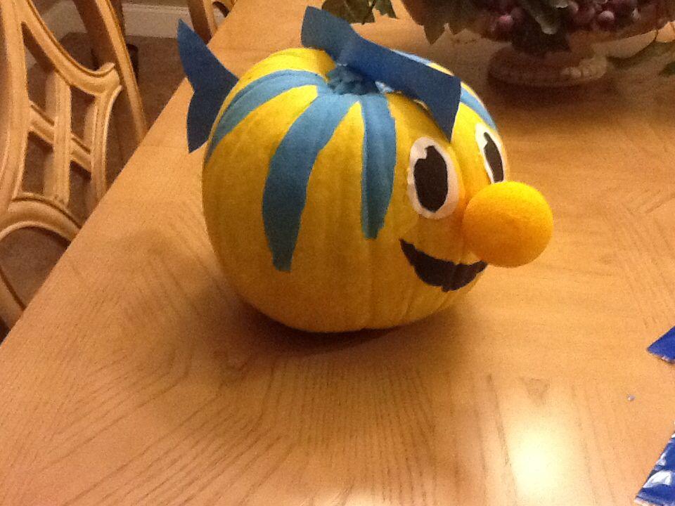 Little Mermaid Flounder Pumpkin Pumpkin Projects