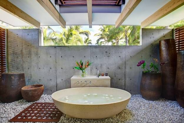 15 Beautiful Outdoor Home Spa Design Ideas Outdoor Bathroom